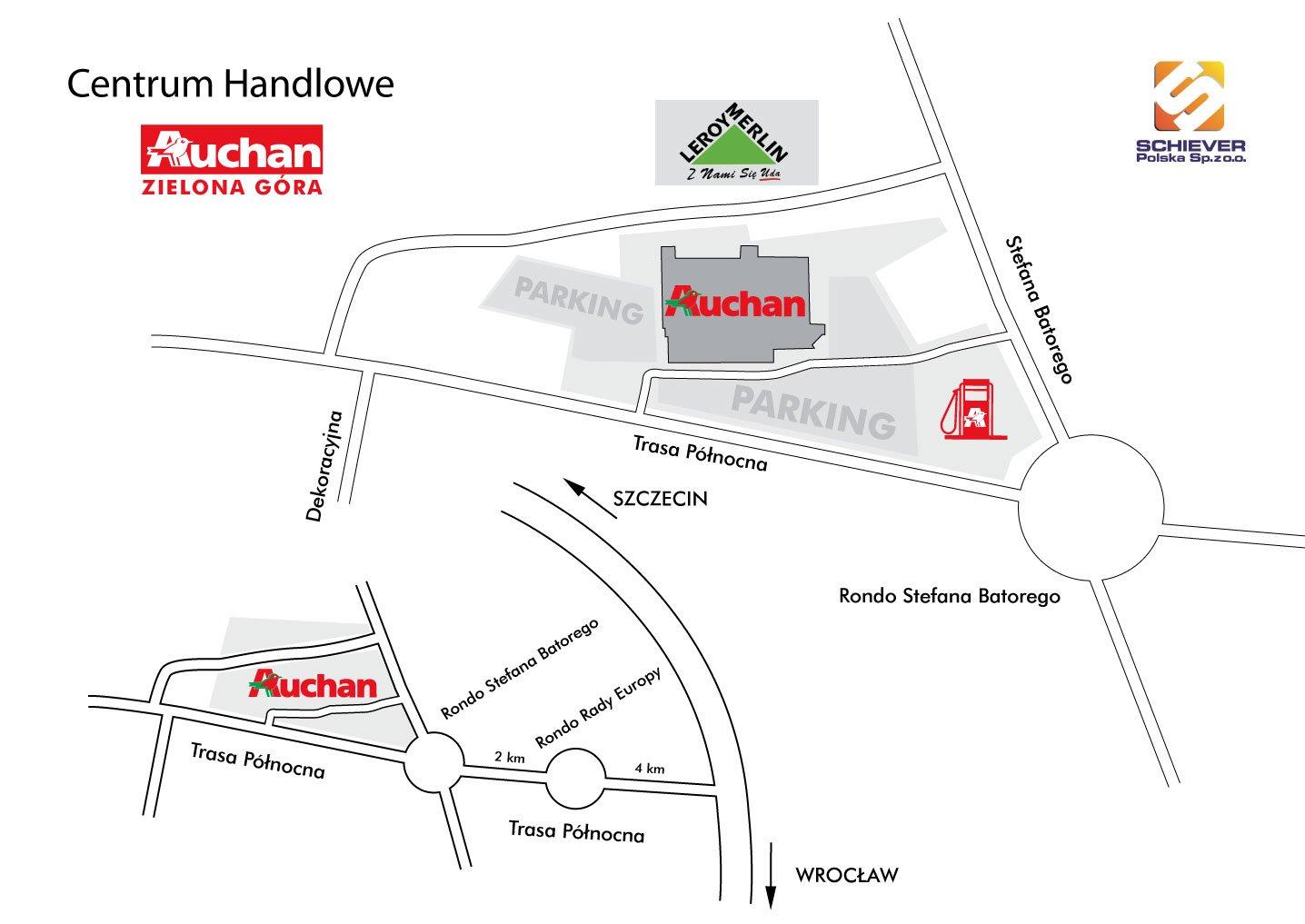 e6bdb7f2d561 Galeria handlowa - Auchan - Zielona Góra - Schiever Polska