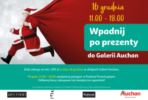 75ebbc9d6f7b Odbierz nagrodę  bon zakupowy lub świąteczny upominek! Do zobaczenia w 16  grudnia o godzinie 11 00 w Galerii Auchan Zielona Góra.